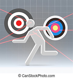 Potential user aiming process - Hunting for potential user...