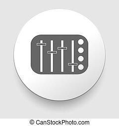 potentiometer, 滑軌, 球形門柄, 調平器, 矢量
