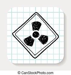 potenza nucleare, segno, scarabocchiare