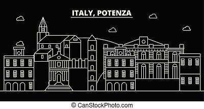 Potenza silhouette skyline. Italy - Potenza vector city,...