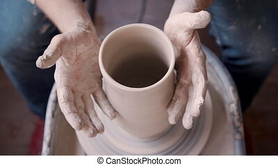 poterie, fonctionnement, atelier, studio, artisan, argile