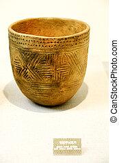poterie, objets, néolithique, corée