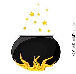 potion., magisch, fire.., pot, item., koken, ketel, magisch