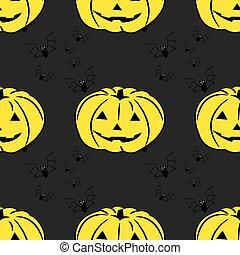 potirons, halloween, fond