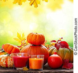 potirons, récolte, automne