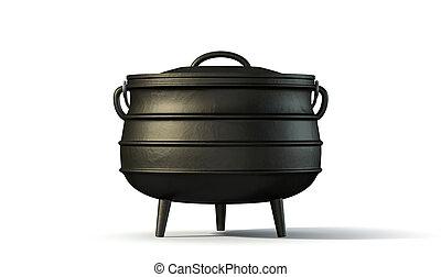 Potjiekos Pot Black - A regular cast iron south african...