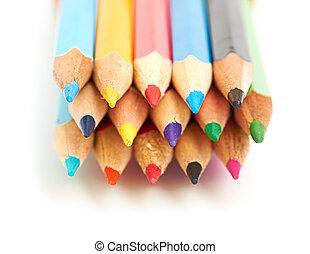 potloden, gekleurde, macro