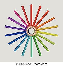 potloden, kleur