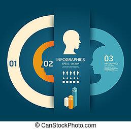 potlood, concept, illustratie, creatief, vector, /, mal, infographics