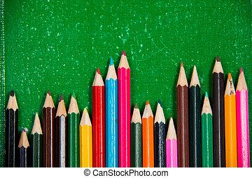 potlood crayon, kleurrijke, verticaal