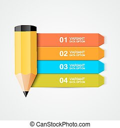 potlood, education., data, infographics