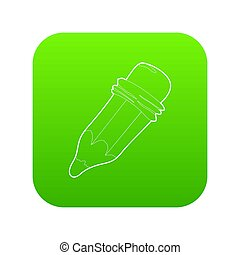 potlood, groene, pictogram