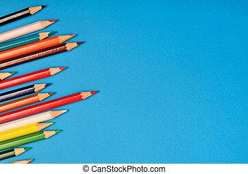 potlood, kleurrijke