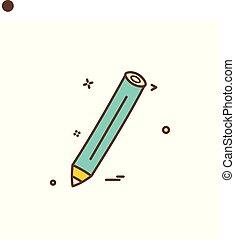 potlood, pen, vector, ontwerp, pictogram