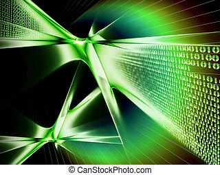 potok, komunikacja, kodeks, dane, dwójkowy