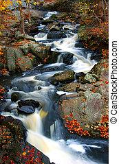 potok, podzim