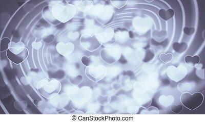 potok, serce, cząstki, ożywienie