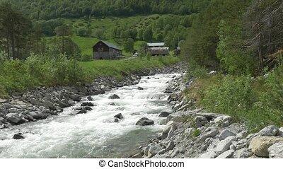 potok, -, tłumaczenie, dziki, rzeka, norwegia, krajowiec