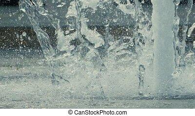 potoki, od, woda, w, niejaki, fontanna, powolny ruch, video