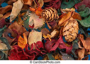Colorful potpourri background
