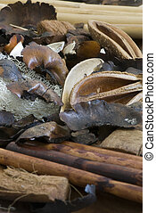 Potpourri in different brown shades