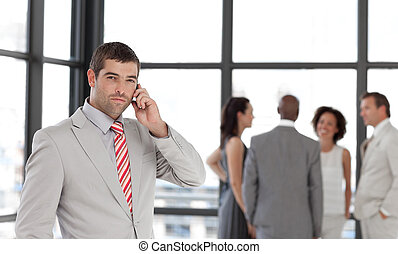 Businessman taking on the phone