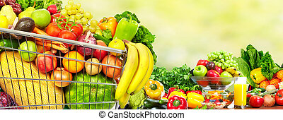 potravinářský obchod shopping, cart.