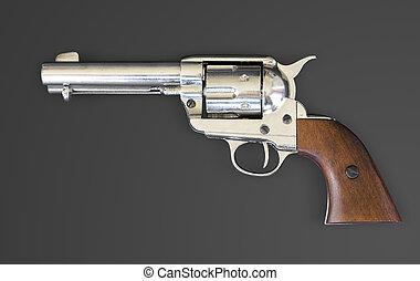 potro, 45, revólver