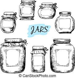 Pots, Étiquettes