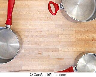 Pots And Pans - A close up shot of kitchen pots and pans