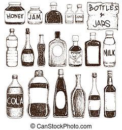 pots, bouteilles
