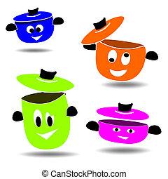 Pots - Colored pots