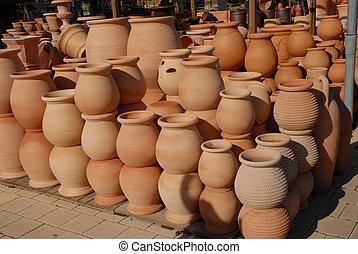 pots for plants in garden