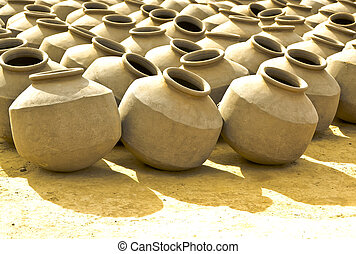 Pots - Pottery is made by forming a clay body into objects...