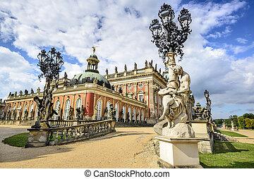 Potsdam Germany - Neues Palais in Potsdam, Germany.