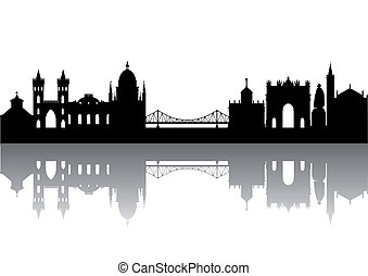 Potsdam Silhouette abstract isolated