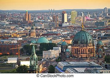 potsdamer, ベルリン, スカイライン, platz, ドーム