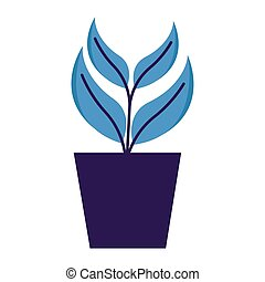 potted plant decoration on white background vector ...