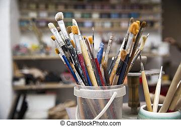 pottemagerværksted, værktøj