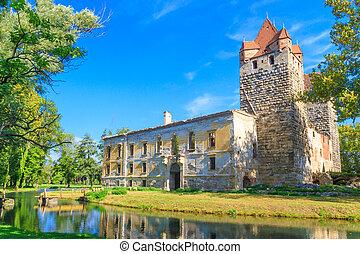 Pottendorf Castle Ruins near Eisenstadt, Austria