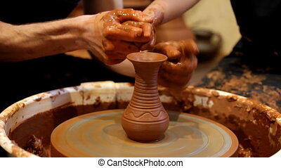 potter trains the child in craft - potter trains the child...