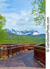 Potters Marsh Alaska - View from the boardwalk at Potters...