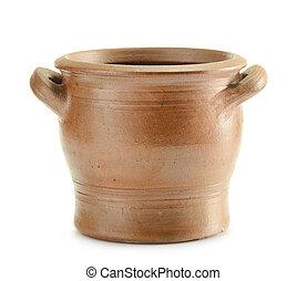 pottery., altes , geschirr, kueche