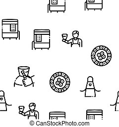 Pottery And Ceramics Seamless Pattern Vector