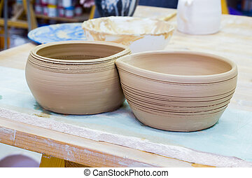 Pottery Craft Ceramic Clay In Potter.