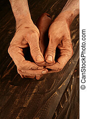 pottery craftmanship potter craftman hands working red clay