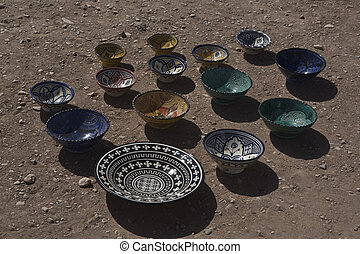 Pottery in Morocco is an old tradition with different...