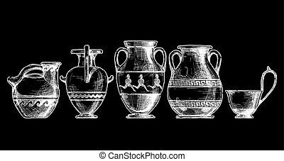 Pottery of ancient Greece.