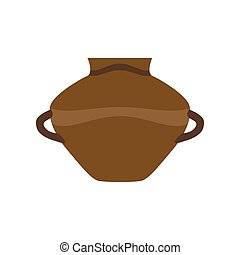 Pottery pot clay vector vase illustration cartoon ceramic jar ancient antique decoration old background pitcher