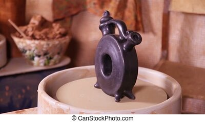 Pottery product rotating - Some ceramic product rotating on...